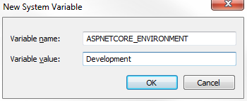 set aspnetcore_environment windows