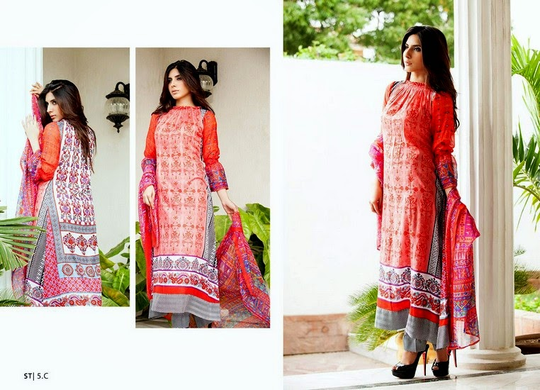 0210f40606 Libas Mid-Summer Collection 2014 · Midsummer Lawn Dresses by Shariq · Libas  Crinkle Lawn Collection 2014