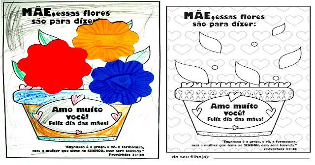 Nesta postagem trago para vocês um Cartão com flores para imprimir e colorir.