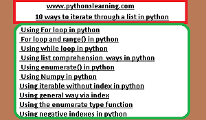 10 ways to iterate through a list in python