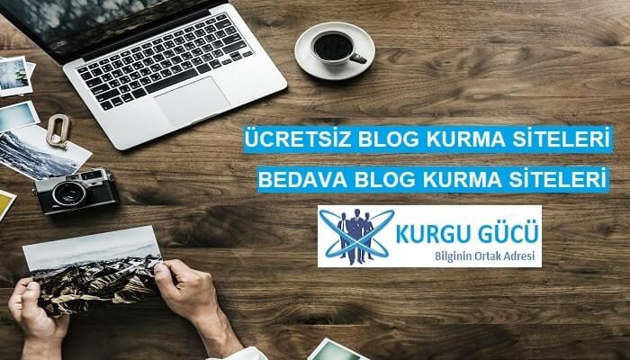 Ücretsiz Blog Kurmak İsteyenlere Bedava 7 Blog Kurma Sitesi - Kurgu Gücü