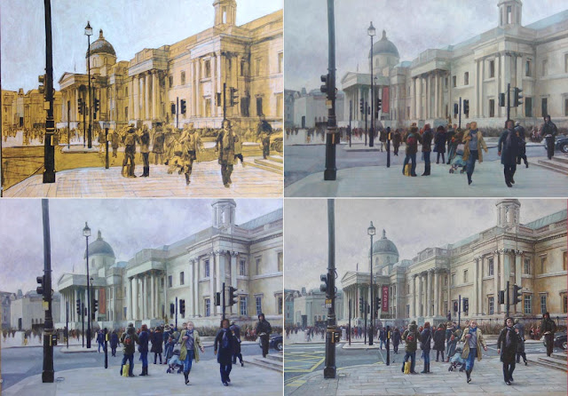 oil painting London in stages Martin Davey