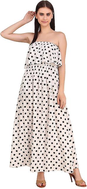 Strapless Maxi Dresses For Women