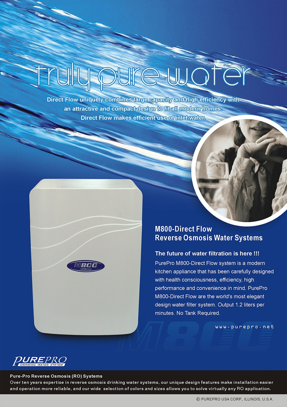 PurePro® M800-Direct Flow Reverse Osmosis Water Filter System
