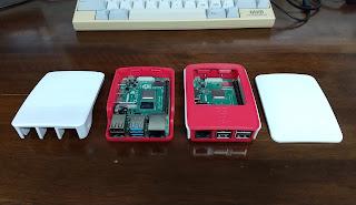 The official Raspberry Pi case for Raspberry Pi 4/The official Raspberry Pi case for the Raspberry Pi 3 Model B and Model B+