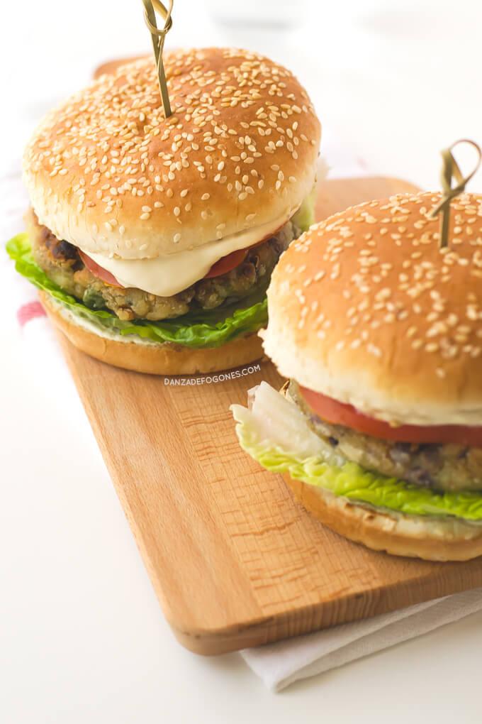 Vegetarian Burgers | danceofstoves.com