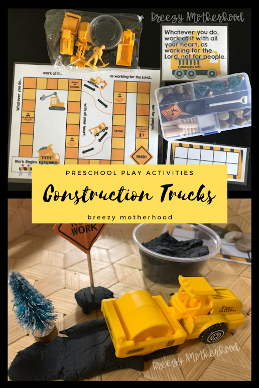 Construction Truck activities for Preschool and Toddlers