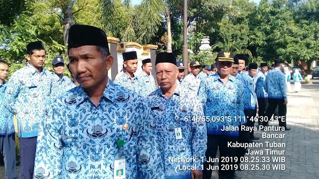 Upacara Hari Lahirnya Pancasila 01 Juni 2019 di Pendopo Kecamatan Bancar