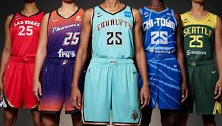 WNBA 2021, revealed, new jerseys, 25th season, with nike.