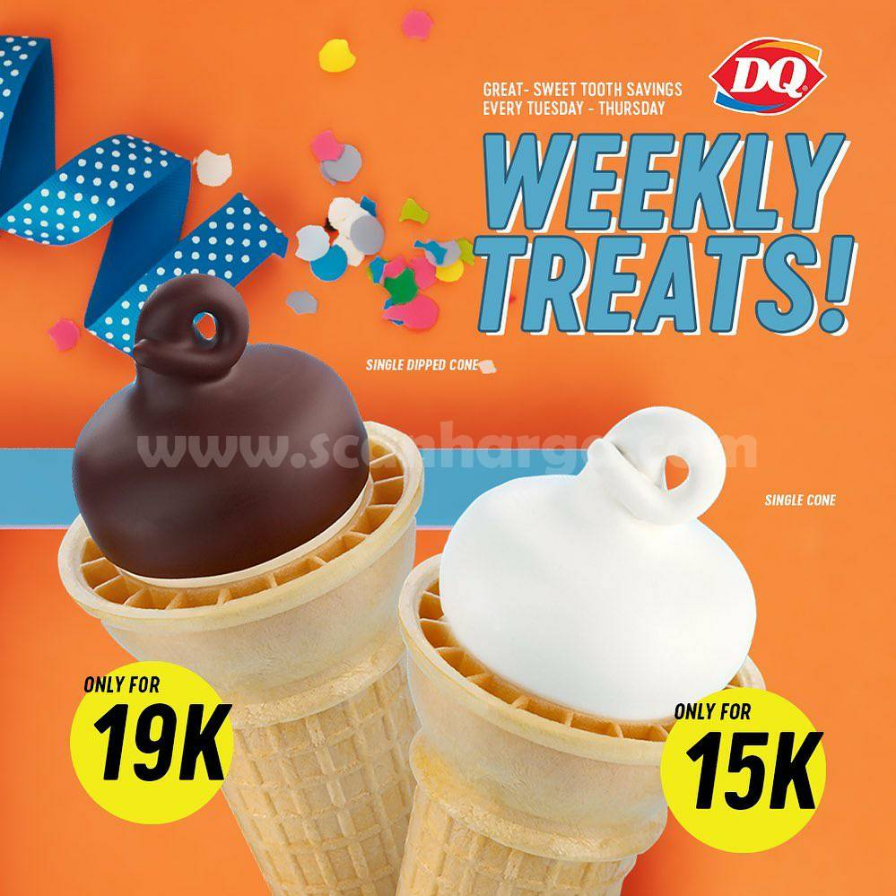 Dairy Queen Weekly Treats - Promo Cone harga mulai dari Rp 15.000