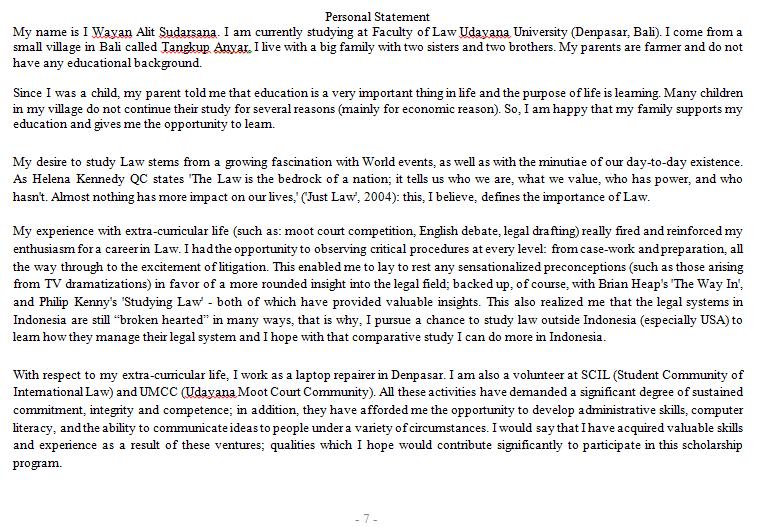 contoh essay untuk melamar beasiswa