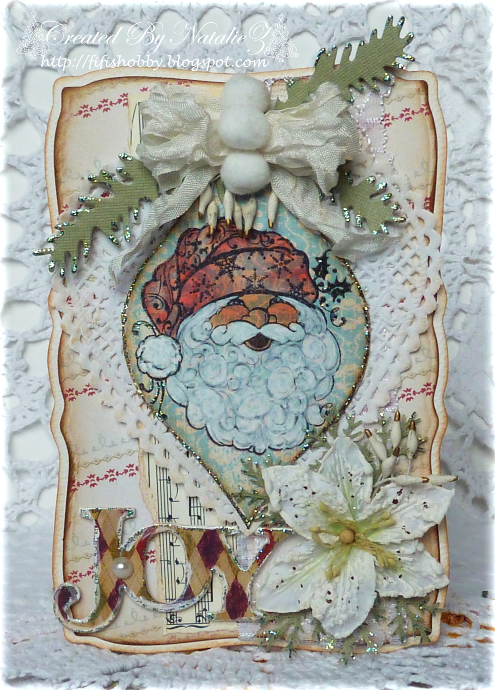 My Creativity Life!: Shabby Chic Christmas Card...