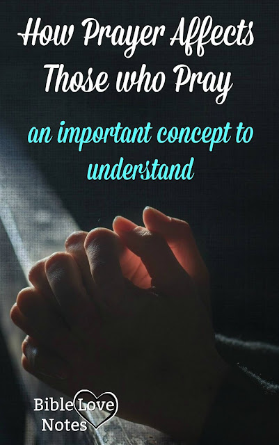 Sometimes we fail to understand what prayer does to us. This 1-minute devotion explains.