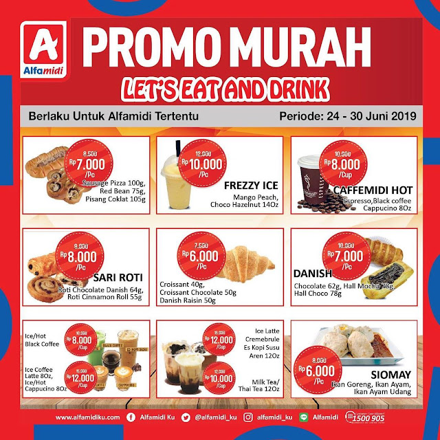 #Alfamidi - #Promo Murah Let's Eat And Drink (s.d 30 Juni 2019)