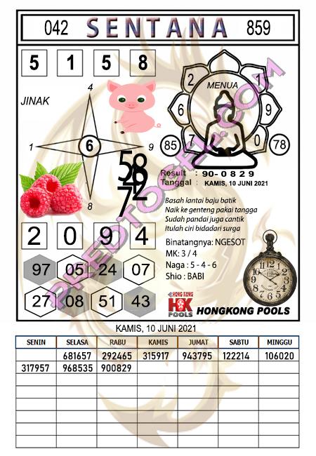 Syair HK Sentana kamis 10 Juni 2021