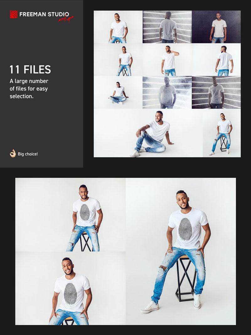 Men T Shirt Mock Up Set 5211187