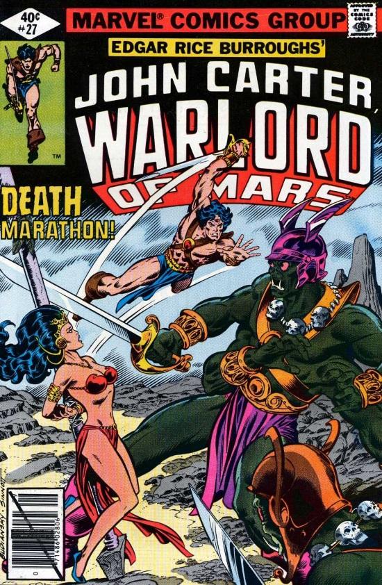Portada de John Carter Warlord of Mars #27, obra de Bob Budiansky y Joe Sinnott