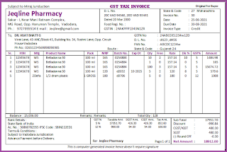 Pharmacy Distributor cNF Agent Business Management Invoice Template A4 Lanscape Size Software