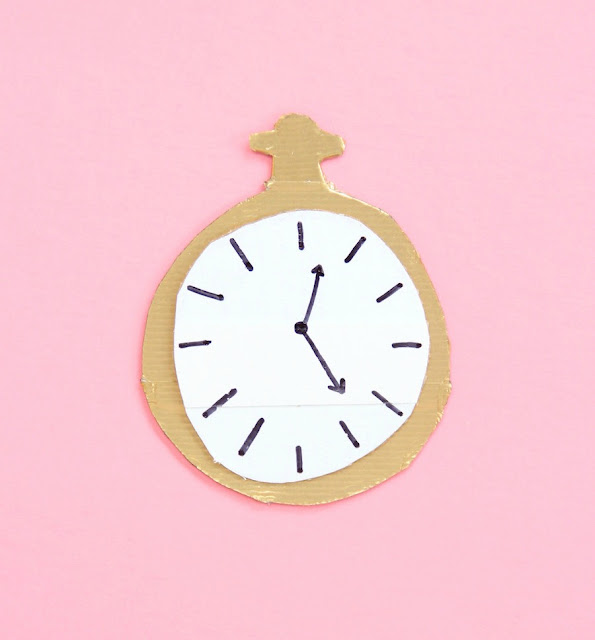 how to make a pocket watch out of cardboard