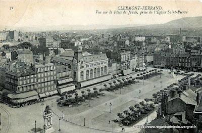 CPA Clermont-Ferrand, la place de Jaude.