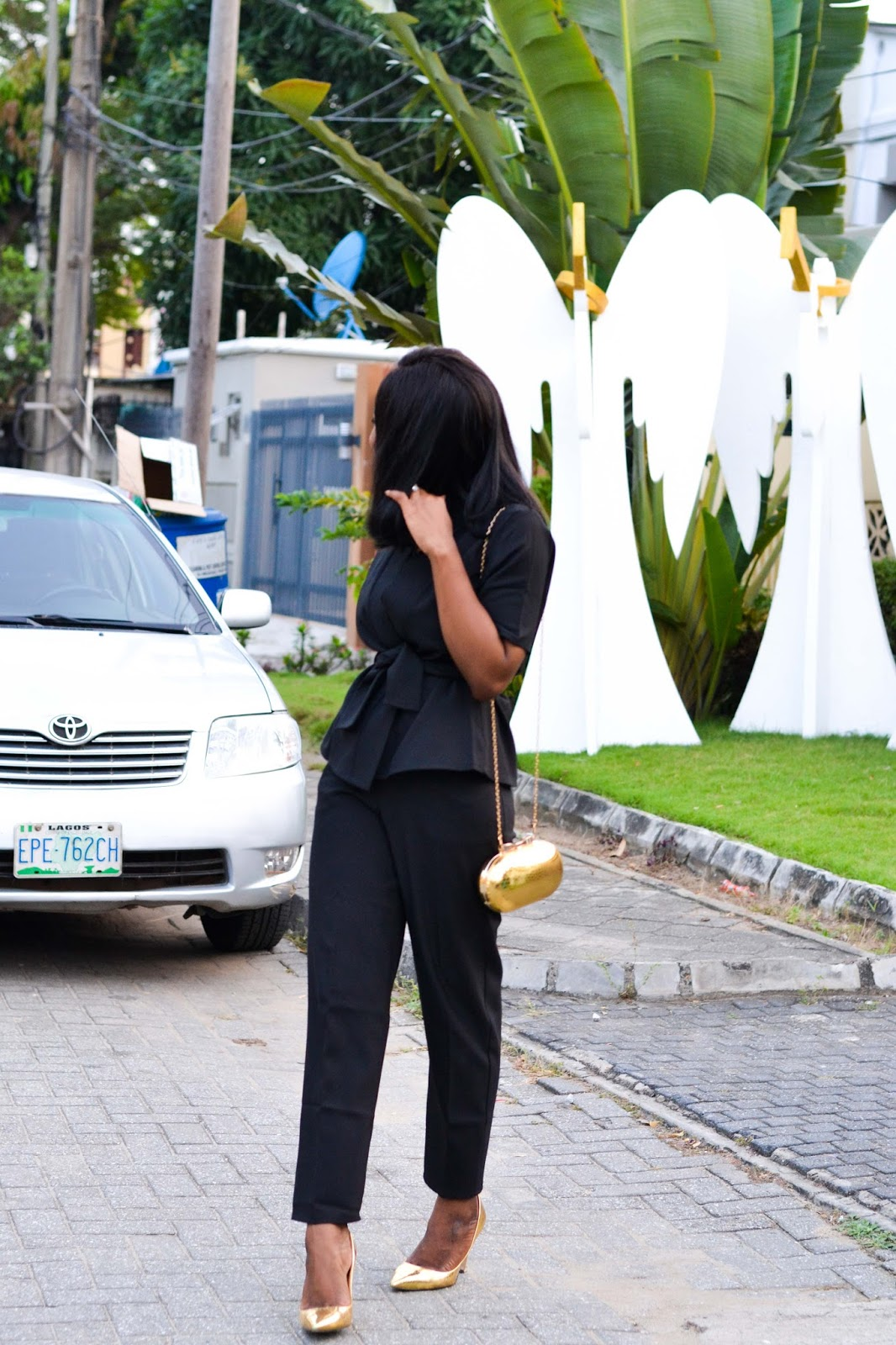 Black Trouser Suit in Lagos