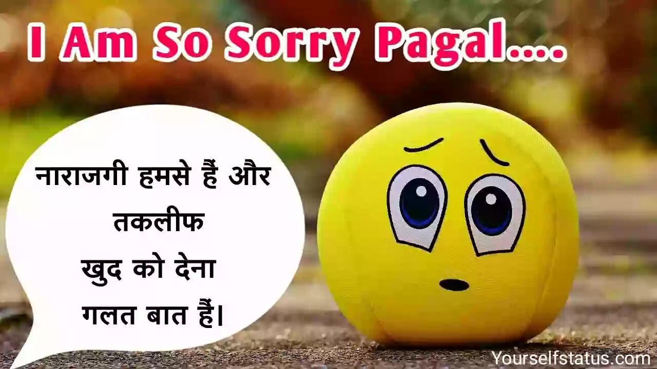 Sorry-whatsapp-Status-hindi