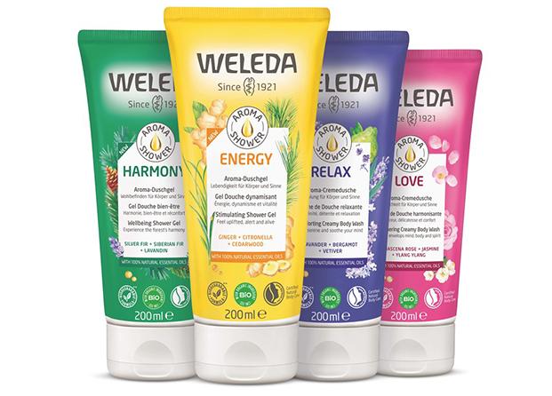 Aroma Shower, los nuevos geles de baño de Weleda 100 % naturales y biodegradables