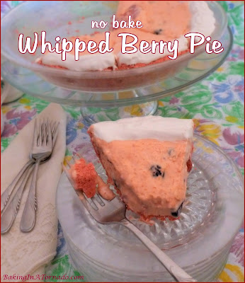 Whipped Berry Pie is a no bake dessert that comes together in minutes and can be made using the berries of your choice. | Recipe developed by www.BakingInATornado | #pie #dessert