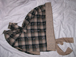 Woman's winter hood (1850s-1860s) from Liz Clark's instructions