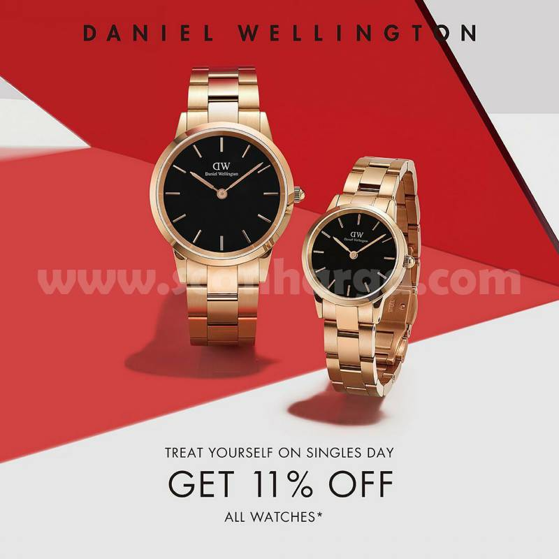 Daniel Wellington Singles Day with 11% off for ALL Watches!