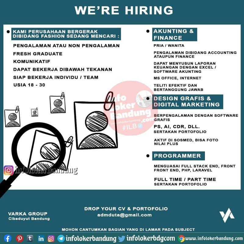 Lowongan Kerja Varka Group Bandung Februari 2021