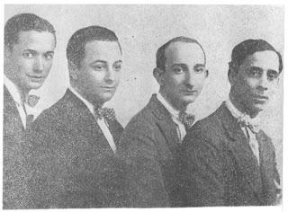 De izquierda a derecha: Cátulo Castillo, Homero Manzi, Sebastián Piana y Pedro Maffia
