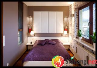 contoh dekorasi kamar tidur ukuran kecil