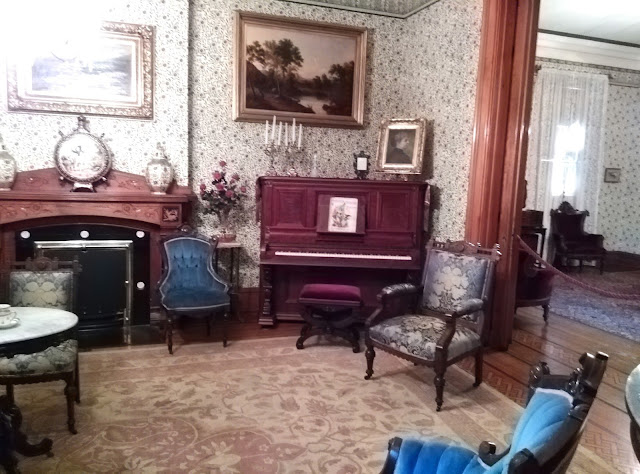Piano in Benjamin Harrison's Parlor.