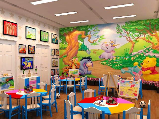 Thiết kế nội thất phòng học trường mầm non Louis City