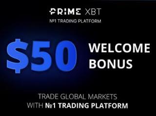 Bonus Crypto Tanpa Deposit PrimeXBT $50