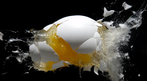 eggs exploded in the microwave