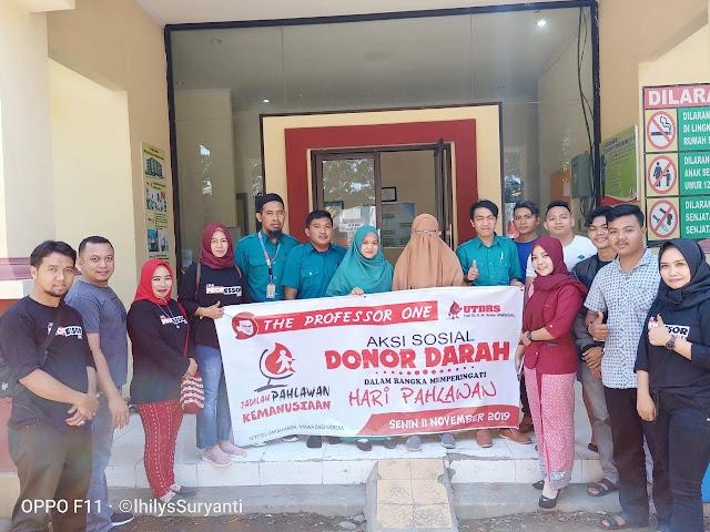 Bantu Sesama, Komunitas The Professor One Bantaeng Gelar Aksi Donor Darah