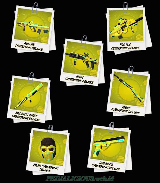 Harga & Statistik Seri Cyberpunk Deluxe Senjata Point Blank