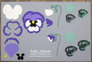 Stampin'Up! Pansy Dies sample page