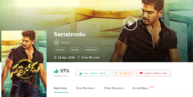 Sarrainodu 2016 Telugu Full Movie 300mb & 700Mb Mp4