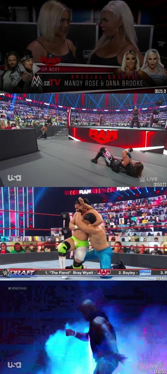 WWE Monday Night Raw 12 Oct 2020 HDTV 720p 480p Full Episode Download