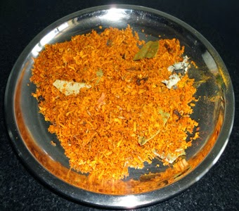 roast the chilli powder and coconut