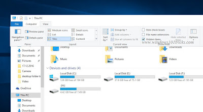 Show Hidden items on windows 10