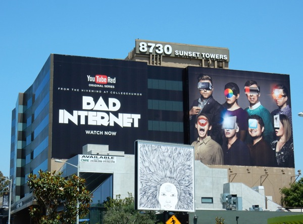 Giant Bad Internet YouTube Red series billboard