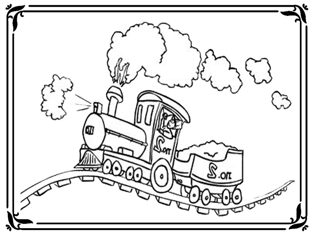 Diesel Train Coloring Pages To Print Coloring Pages