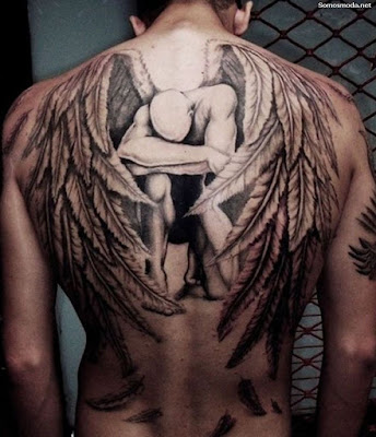 Tatuajes en la espalda con alas