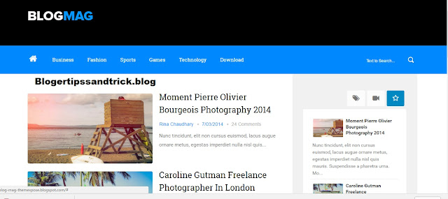 Blogmag Responsive Free Template For Blogger