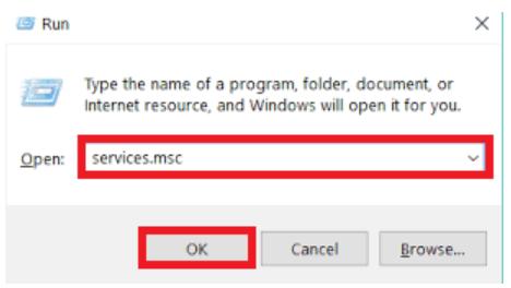 Open Services.msc