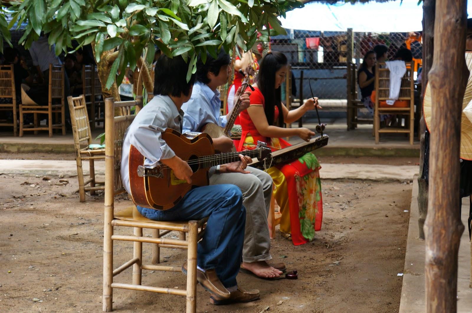 Village folk playing music